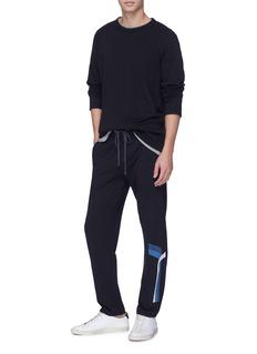 James Perse Raglan sleeve graphic stripe sweatshirt