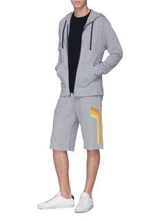 James Perse Graphic stripe zip hoodie