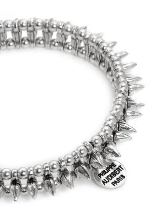 Detail View - Click To Enlarge - Philippe Audibert - 'Abigail' spike elastic bracelet