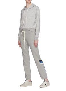 James Perse Stripe graphic print shrunken hoodie