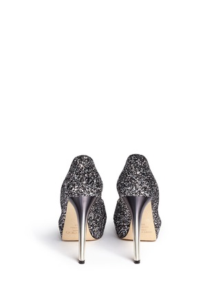 Back View - Click To Enlarge - Jimmy Choo - 'Dahlia' gradient heel glitter peep toe pumps