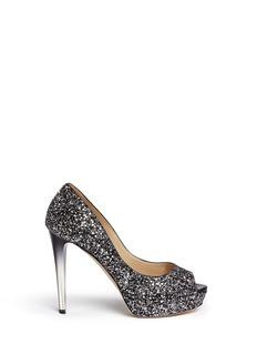 Jimmy Choo'Dahlia' gradient heel glitter peep toe pumps
