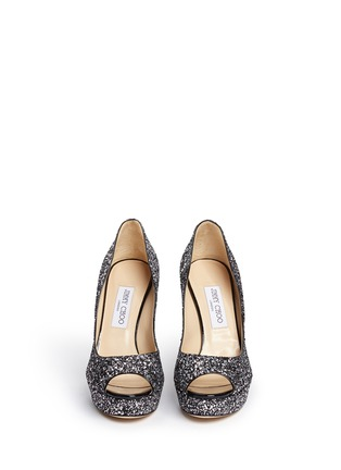 Figure View - Click To Enlarge - Jimmy Choo - 'Dahlia' gradient heel glitter peep toe pumps