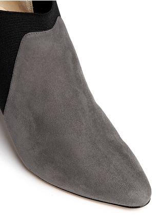 Detail View - Click To Enlarge - Jimmy Choo - 'Declan' elastic suede booties