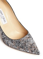 'Abel' painted coarse glitter pumps