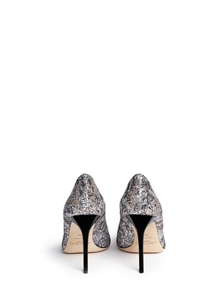 Back View - Click To Enlarge - Jimmy Choo - 'Abel' painted coarse glitter pumps