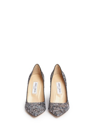 Figure View - Click To Enlarge - Jimmy Choo - 'Abel' painted coarse glitter pumps