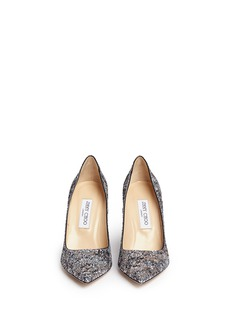 JIMMY CHOO 'Abel' painted coarse glitter pumps