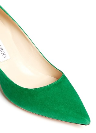 Detail View - Click To Enlarge - Jimmy Choo - 'Aza' suede kitten heel pumps