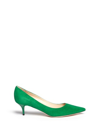 Main View - Click To Enlarge - Jimmy Choo - 'Aza' suede kitten heel pumps