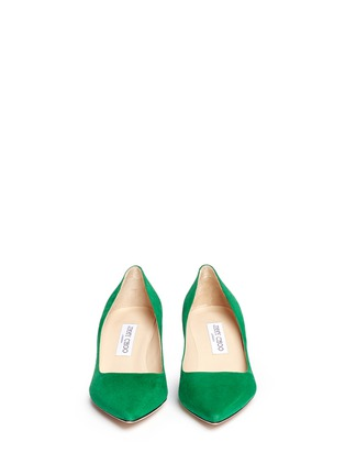 Figure View - Click To Enlarge - Jimmy Choo - 'Aza' suede kitten heel pumps