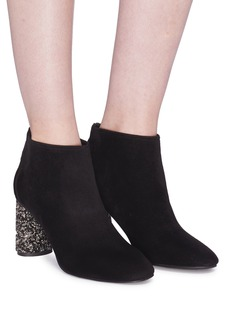 Pedder Red 'Gino' strass heel suede ankle boots