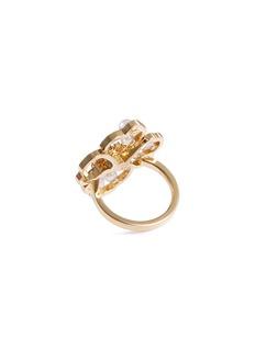 Tasaki 'Scented' diamond Akoya pearl 18k yellow gold ring