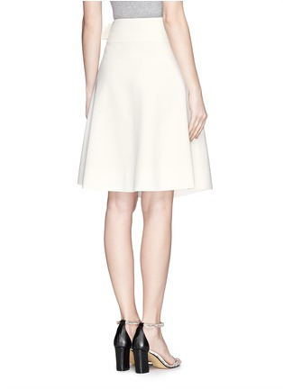 Back View - Click To Enlarge - MO&CO. EDITION 10 - Asymmetric wrap flare skirt