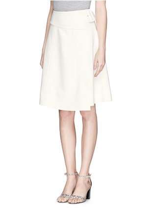 Front View - Click To Enlarge - MO&CO. EDITION 10 - Asymmetric wrap flare skirt