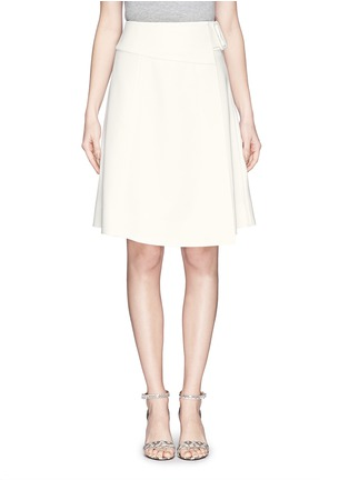 Main View - Click To Enlarge - MO&CO. EDITION 10 - Asymmetric wrap flare skirt