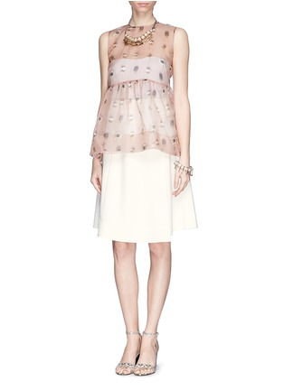Figure View - Click To Enlarge - MO&CO. EDITION 10 - Asymmetric wrap flare skirt