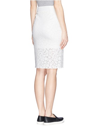 Back View - Click To Enlarge - MO&CO. EDITION 10 - Floral cutout pencil skirt