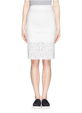 Main View - Click To Enlarge - MO&CO. EDITION 10 - Floral cutout pencil skirt