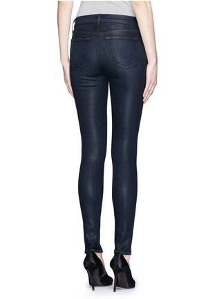 Back View - Click To Enlarge - J Brand - 'Close Cut' coated skinny jeans