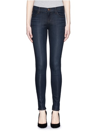 Main View - Click To Enlarge - J Brand - 'Close Cut' coated skinny jeans
