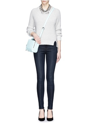 Figure View - Click To Enlarge - J Brand - 'Close Cut' coated skinny jeans