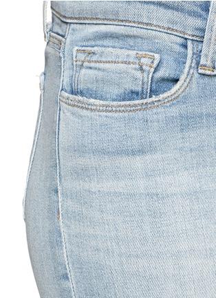细节 - 点击放大 - J BRAND - 破洞修身牛仔裤