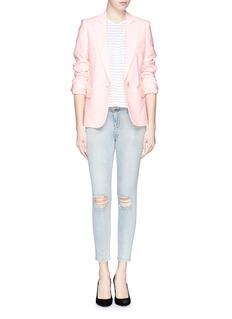 J BRAND'Capri' rip knee jeans