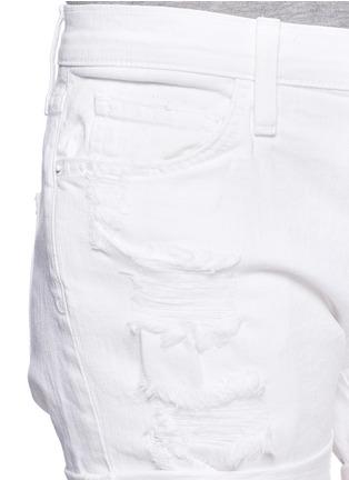 细节 - 点击放大 - CURRENT/ELLIOTT - 混棉破洞牛仔短裤