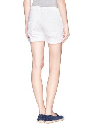 背面 - 点击放大 - CURRENT/ELLIOTT - 混棉破洞牛仔短裤
