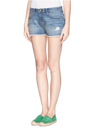 Front View - Click To Enlarge - Current/Elliott - 'The Boyfriend™' ripped shorts