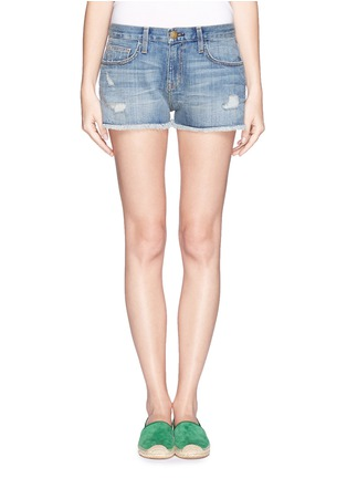 Main View - Click To Enlarge - Current/Elliott - 'The Boyfriend™' ripped shorts