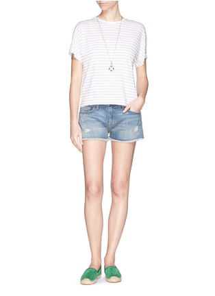 Figure View - Click To Enlarge - Current/Elliott - 'The Boyfriend™' ripped shorts