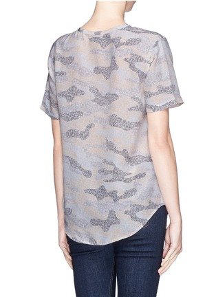Back View - Click To Enlarge - Equipment - 'Riley' lace print camouflage T-shirt