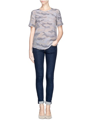 Figure View - Click To Enlarge - Equipment - 'Riley' lace print camouflage T-shirt