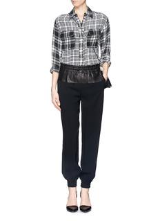 EQUIPMENTSignature contrast check silk shirt