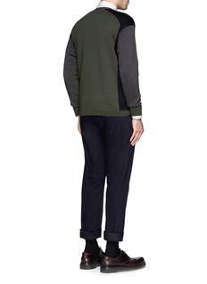 MARNITri-colour virgin wool sweater