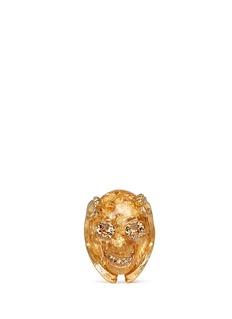 ALEXANDER MCQUEENPlexiglas skull ring