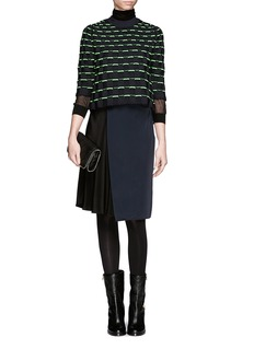 3.1 PHILLIP LIMCropped check knit sweater