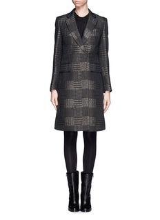 3.1 PHILLIP LIMSingle breasted houndstooth coat