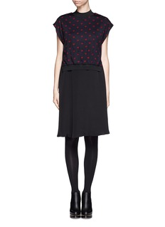3.1 PHILLIP LIM Heart pattern two-piece silk dress