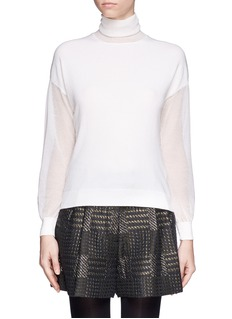 3.1 PHILLIP LIM Sheer sleeve turtleneck