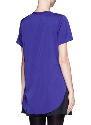 Back View - Click To Enlarge - 3.1 Phillip Lim - Side slit silk blouse