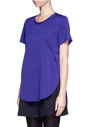 Front View - Click To Enlarge - 3.1 Phillip Lim - Side slit silk blouse