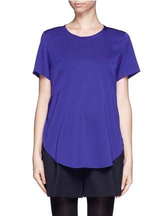 Main View - Click To Enlarge - 3.1 Phillip Lim - Side slit silk blouse
