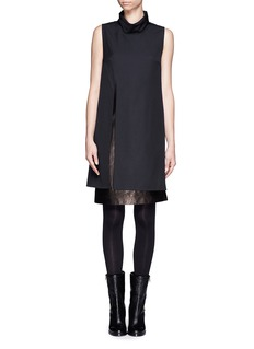 3.1 PHILLIP LIM Wool-leather shift dress