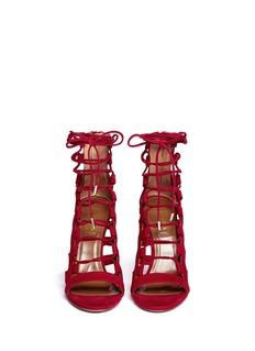AQUAZZURA 'Amazon' suede caged sandals