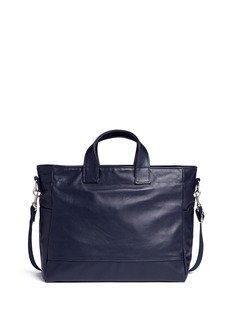Meilleur Ami Paris 'Petit Ami' leather messenger tote bag