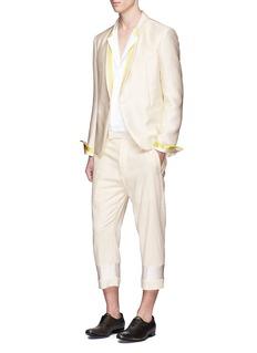 Haider AckermannSatin trim cotton cropped pants
