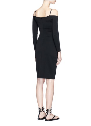 Back View - Click To Enlarge - T By Alexander Wang - Cold shoulder long sleeve dress